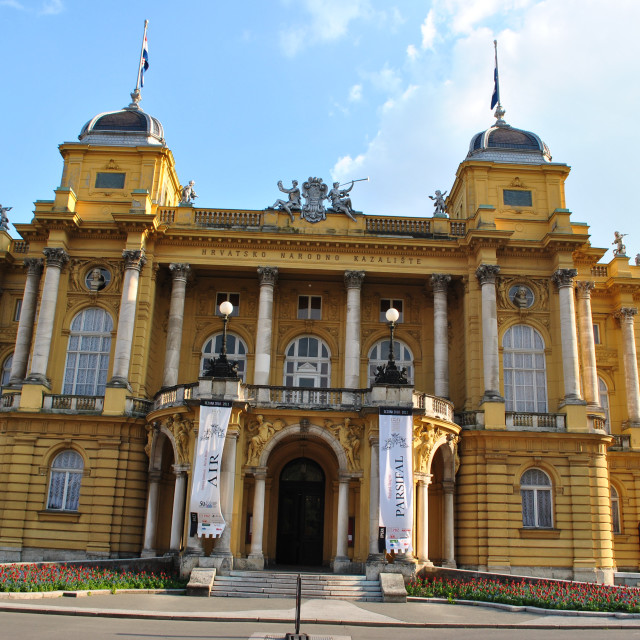 """Croatian National Theatre in Zagreb, Croatia"" stock image"