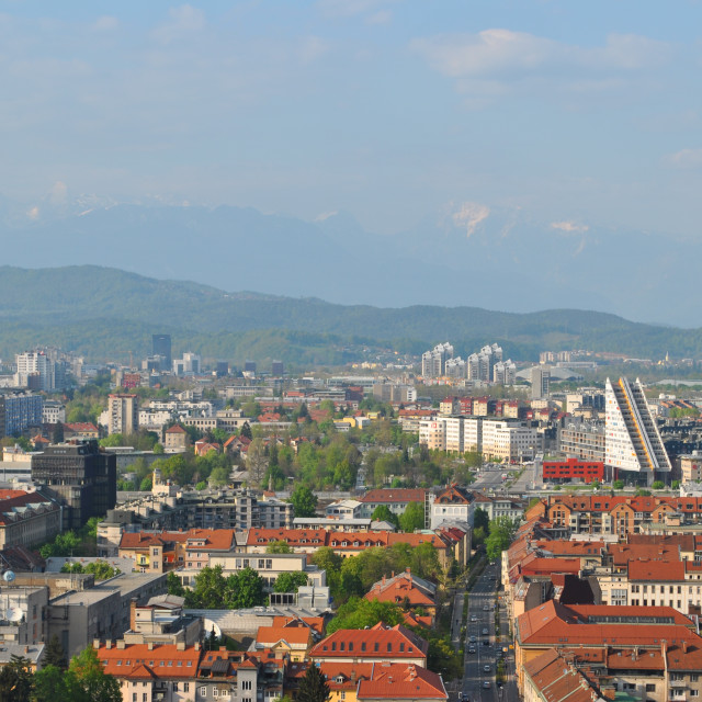"""Downtown Ljubljana"" stock image"