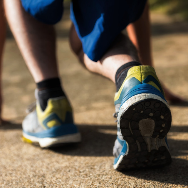 """""""running for losing weight at park"""" stock image"""