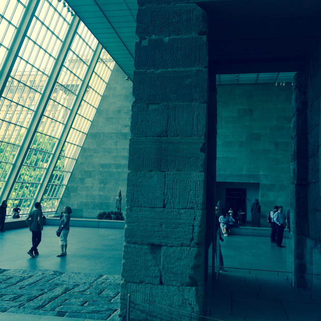 """The MET, Metropolitan Museum of Art. The Temple of Dendur,New York City, USA"" stock image"