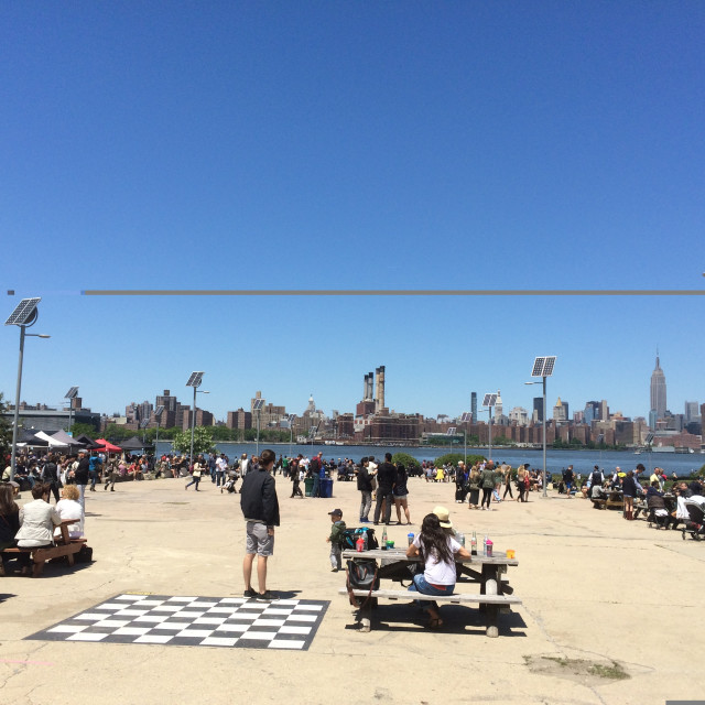 """Smorgasburg food market, Northside Piers, Williamsburg, Brooklyn, New York City, USA"" stock image"