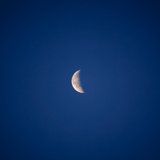 """Waning Crescent Moon"" stock image"