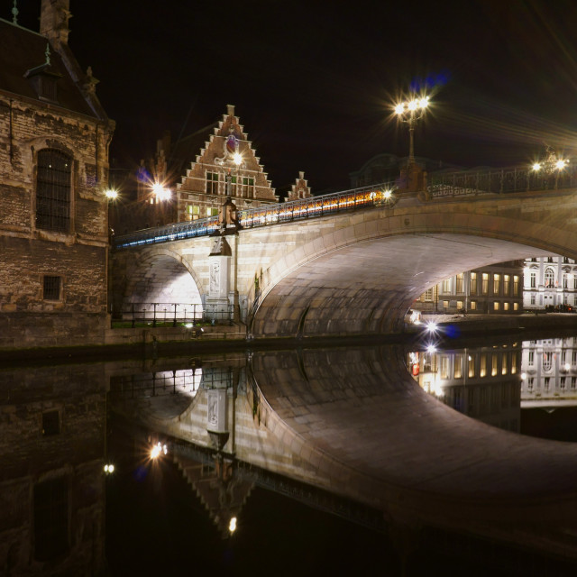 """St Michael's Bridge, Gent"" stock image"