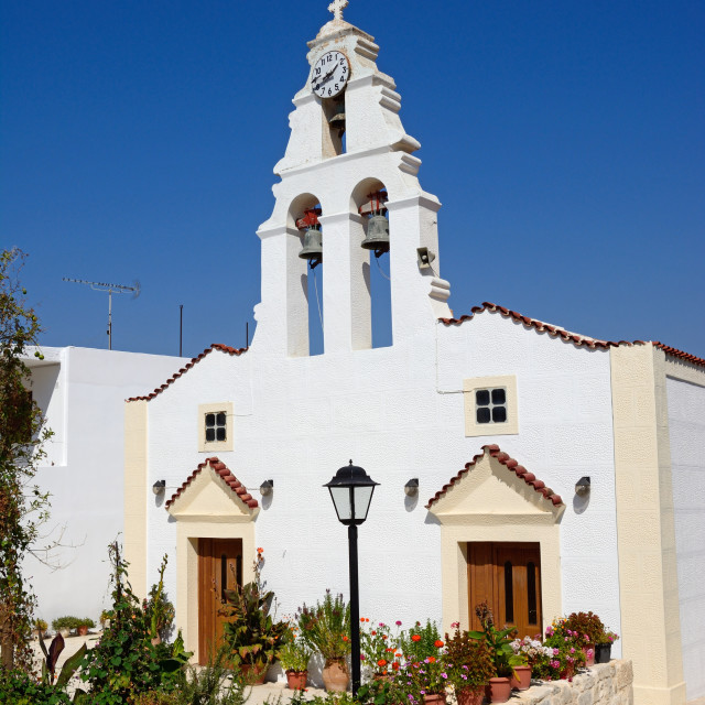 """Margarites village church, Crete"" stock image"