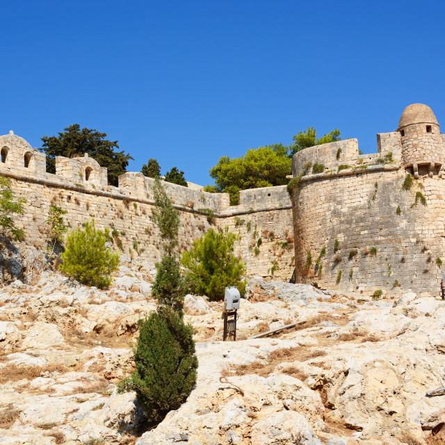 """Rethymno castle, Crete"" stock image"