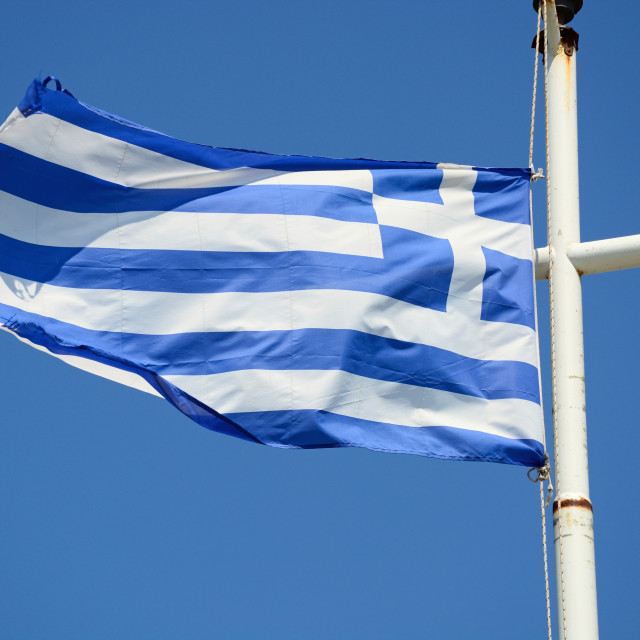 """Greek flag"" stock image"