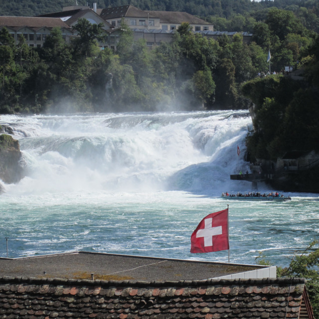 """Rhine Falls in Switzerland"" stock image"
