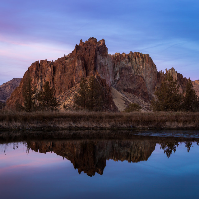 """Smith Rock Reflection"" stock image"