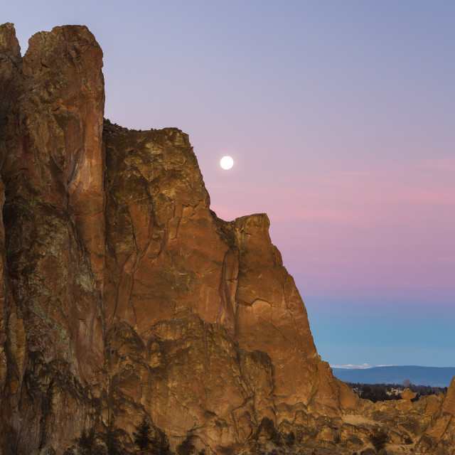 """Smith Rock Super Moon"" stock image"