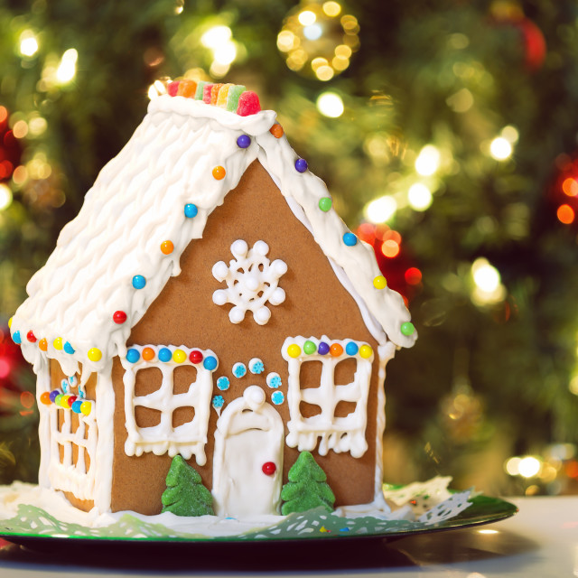 """Gingerbread house"" stock image"