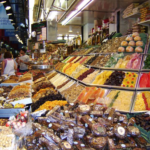 """Market La Boqueria (Mercat de Sant Josep), Barcelona, Spain"" stock image"