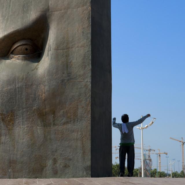 """Cesar modern art on jeddah corniche, Saudi arabia"" stock image"
