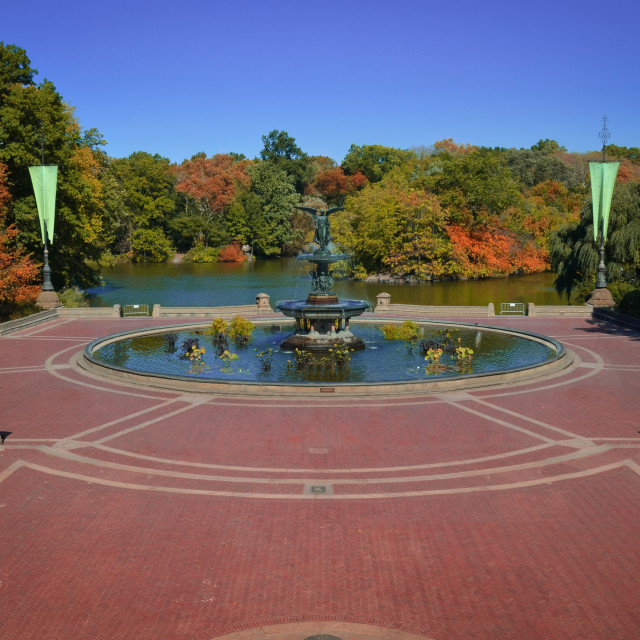 """Bethesda Fountain"" stock image"