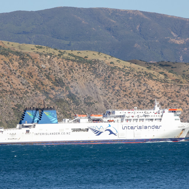 """Cook Strait ferry"" stock image"