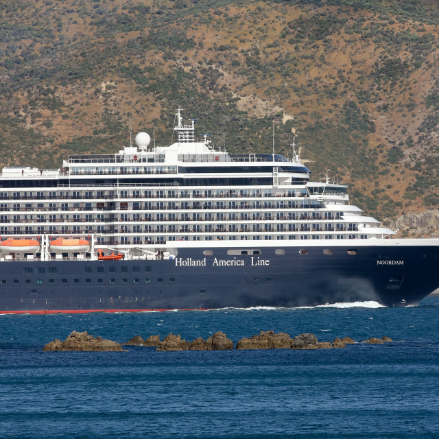 """Noordam departs Wellington"" stock image"