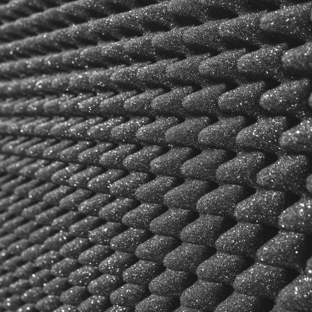 """Acoustic foam"" stock image"