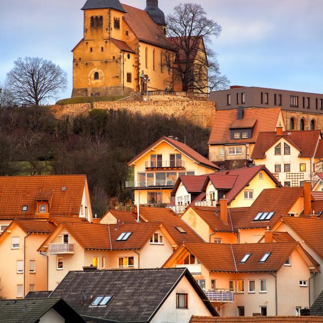 """Old gothic german town Fulda by Frankfurt, Germany"" stock image"