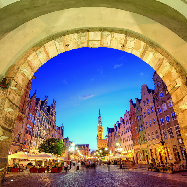 """""""Main Town Hall in the old city of Gdansk, Poland"""" stock image"""