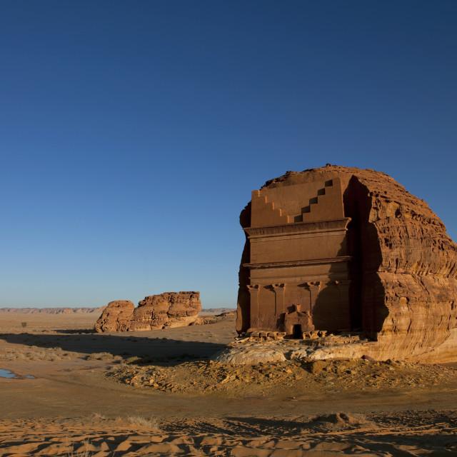 """Qaseer al fareed, Madain saleh archaeologic site, Saudi arabia"" stock image"