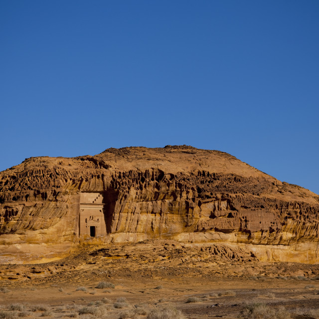 """Madain saleh archaeologic site, Saudi arabia"" stock image"