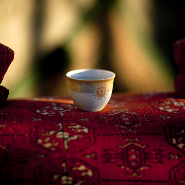"""Cup of cofee, Saudi arabia"" stock image"