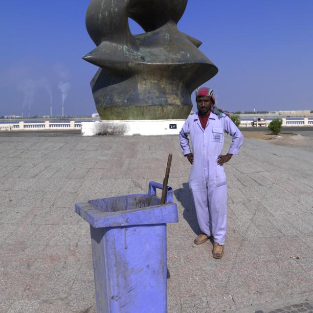 """Modern art on jeddah corniche, Saudi arabia"" stock image"
