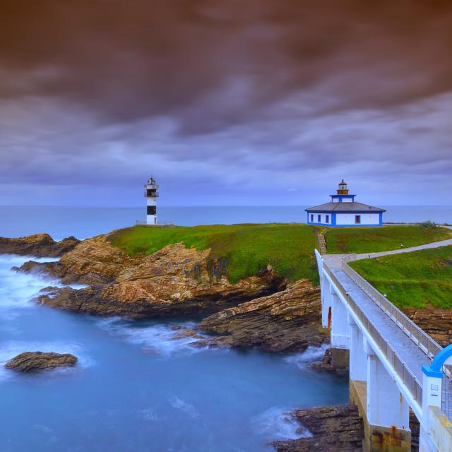 """View on Pancha Island in ribadeo, Lugo."" stock image"