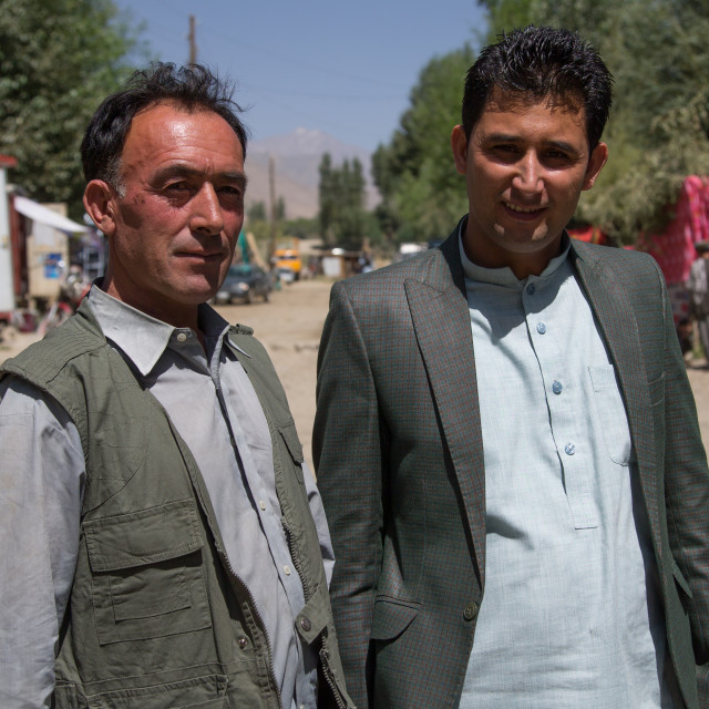 """Afghan travel agent malang darya, Badakhshan province, Ishkashim, Afghanistan"" stock image"
