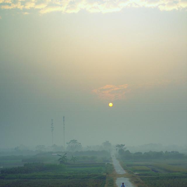 """Early morning at Son Tay"" stock image"