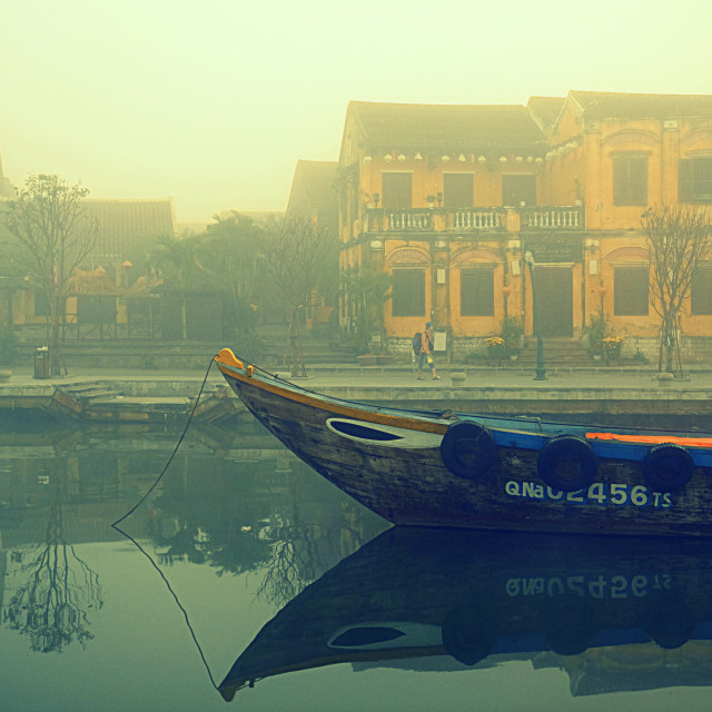 """""""Hoi An in the mist"""" stock image"""