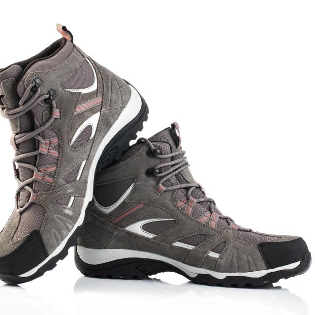 """""""Grey female shoes isolated on white background"""" stock image"""