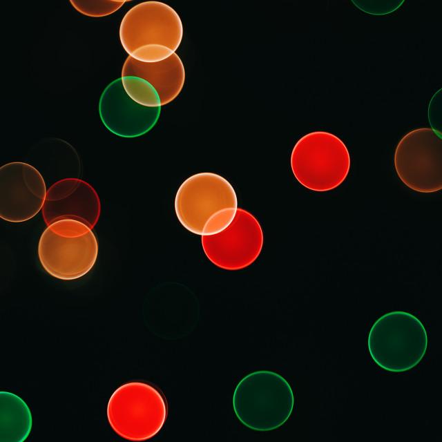 """Colorful bokeh lights for backdrop"" stock image"