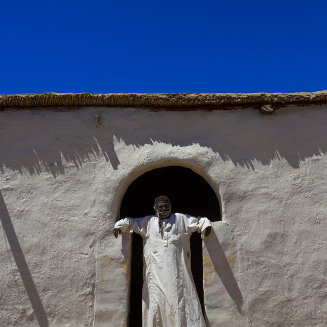 """""""Sudan, Northern Province, Gunfal, traditional nubian architecture"""" stock image"""