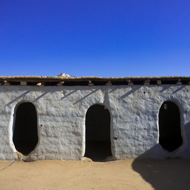 """Sudan, Nubia, Tumbus, traditional nubian house"" stock image"