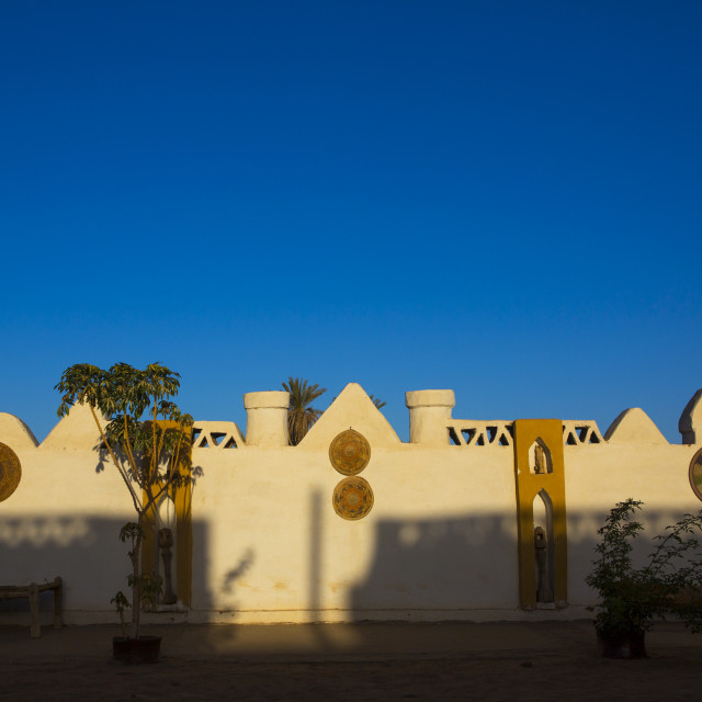 """""""Sudan, Northern Province, Dongola, candaca nubian guest house"""" stock image"""