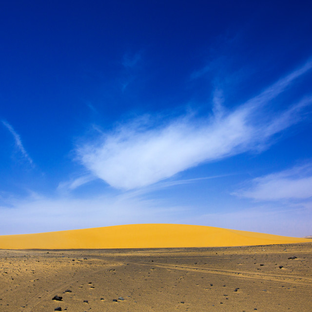 """Sudan, Nubia, Old Dongola, nubian desert"" stock image"