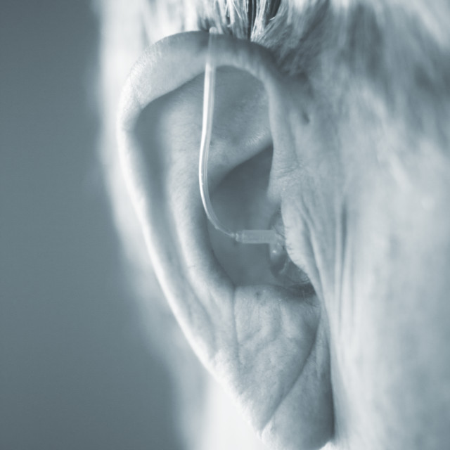 """Digital hearing aid ear"" stock image"