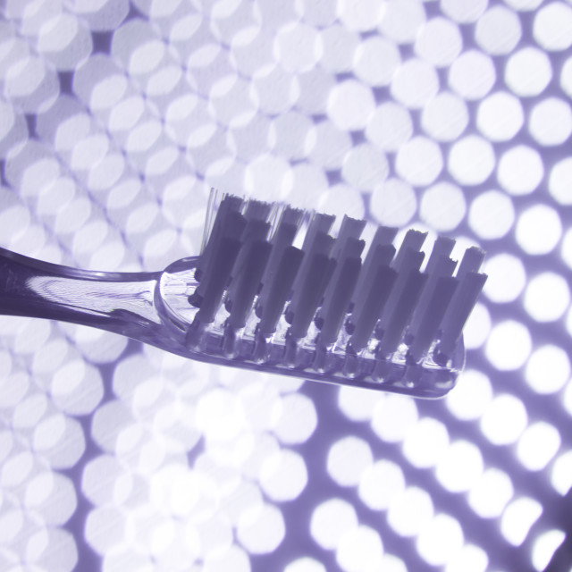 """Dental teeth cleaning toothbrush"" stock image"