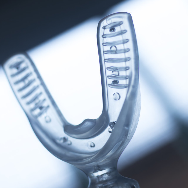 """Dental aligner bracket accelerator"" stock image"