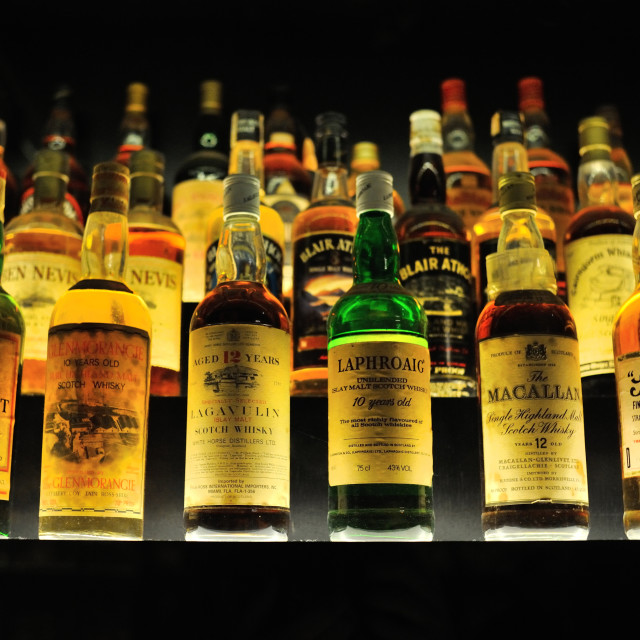 """Whisky Collection"" stock image"