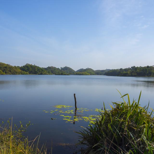 """Lake, Mrauk U, Myanmar"" stock image"