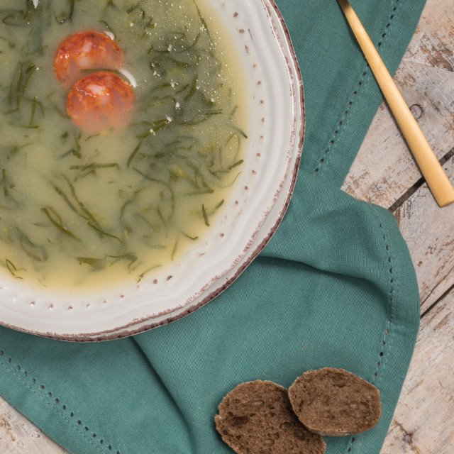 """Caldo verde soup"" stock image"