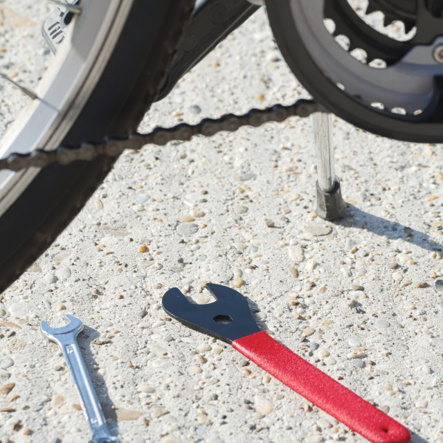 """""""Bicycle Closeup with Tools"""" stock image"""