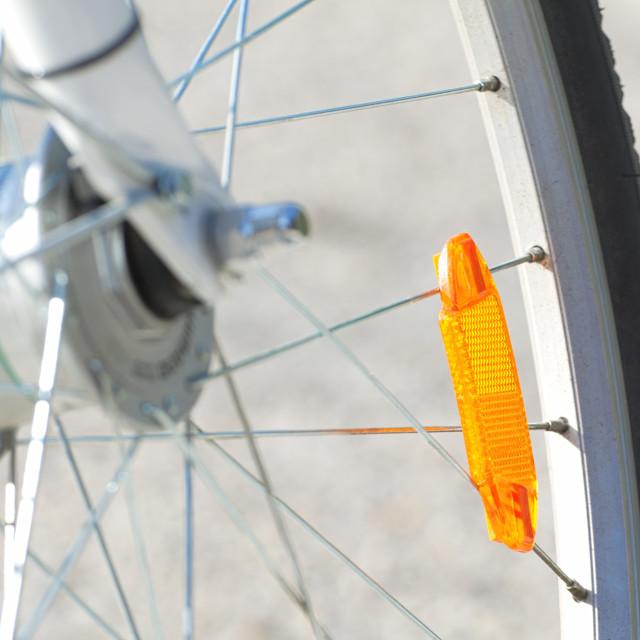 """Bicycle Wheel Closeup"" stock image"
