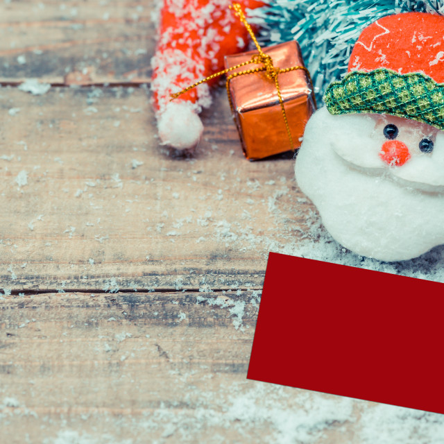 """""""Merry Christmas and Happy New Year, winter season with snow and decoration"""" stock image"""