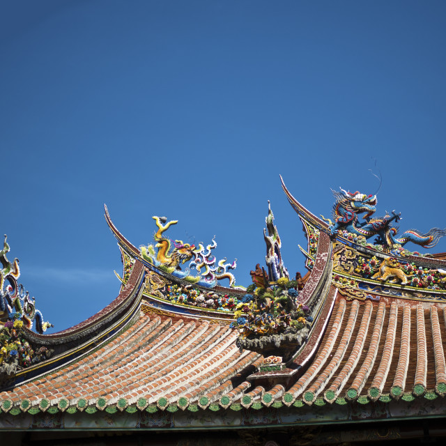 """chinese temple roof"" stock image"