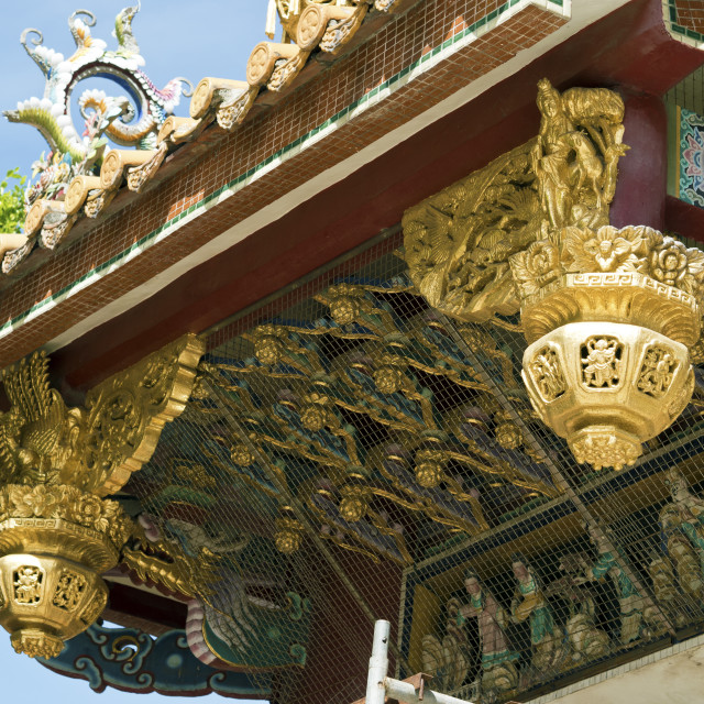 """""""temple roof detail"""" stock image"""