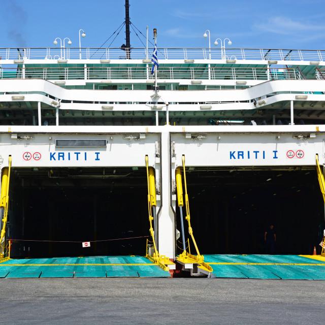 """Car ferry in Heraklion, Crete"" stock image"