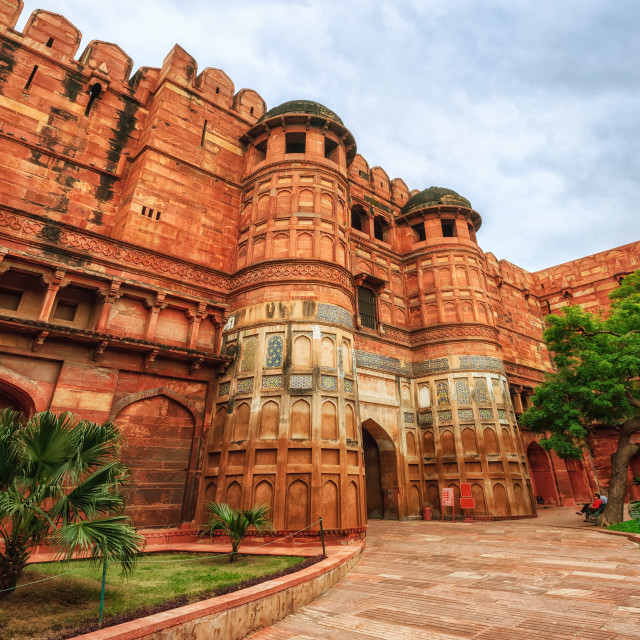 """""""Gates of Red Fort of Agra, India"""" stock image"""