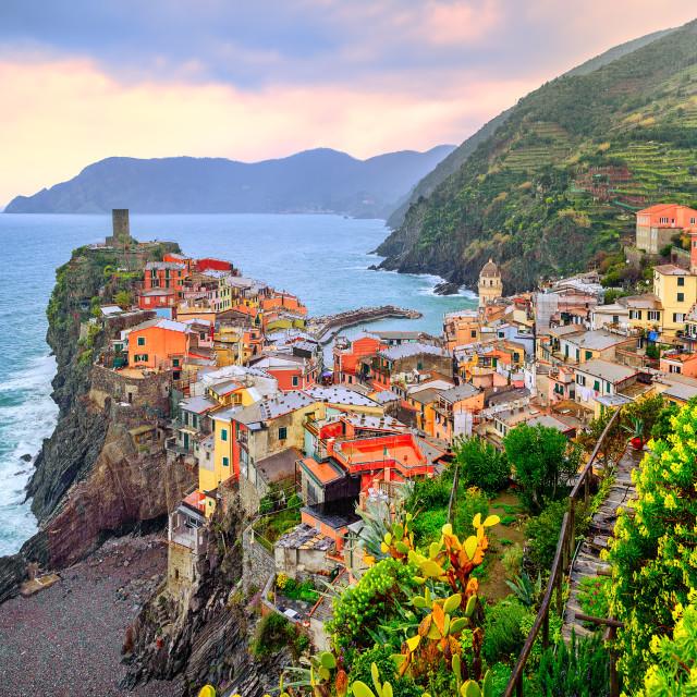 """Vernazza in Cinque Terre, Liguria, Italy"" stock image"